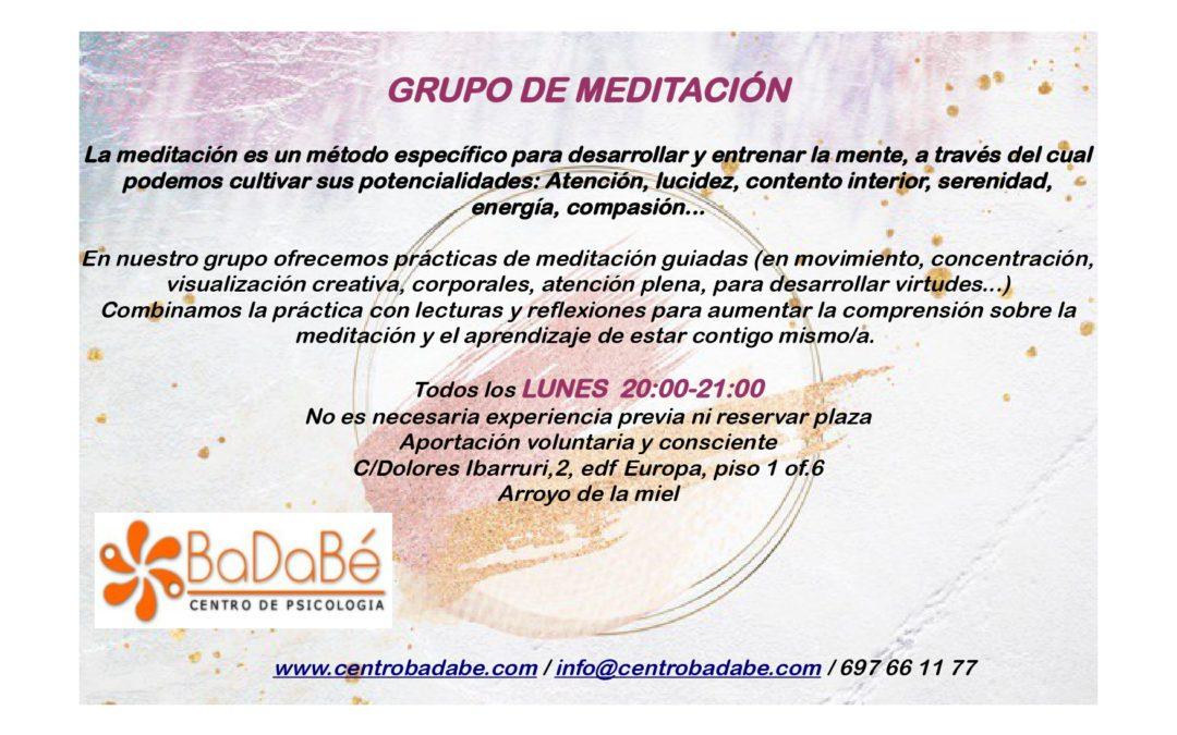 GRUPO DE MEDITACIÓN sept 2019